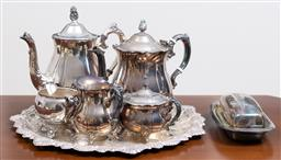 Sale 9140H - Lot 30 - A collection of silverplated tea service including examples by Perfection