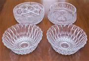 Sale 8346A - Lot 83 - A Waterford crystal bowl together with a similar sized examples, and two others