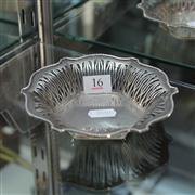 Sale 8379 - Lot 16 - English Hallmarked Sterling Silver Pierced Basket (Weight - 97g)