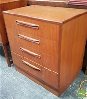 Sale 8409 - Lot 1054 - G-Plan Chest of Four Drawers