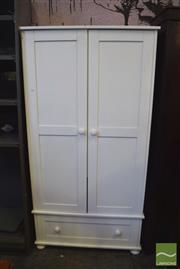 Sale 8390 - Lot 1317 - Timber 2 Door Wardrobe