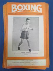 Sale 8419A - Lot 42 - Boxing 1935 - a great set of Boxing (UK) 1934-1935, covers complete