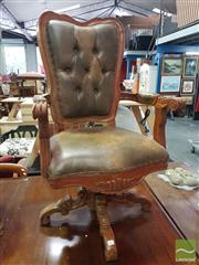 Sale 8554 - Lot 1065 - Button Back Desk Chair