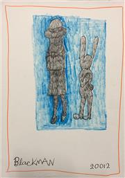 Sale 8657E - Lot 5041 - Charles Blackman (1928 - 2018) - Schoolgirl and Rabbit, 2012 30 x 21cm