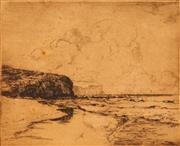 Sale 8675A - Lot 5100 - Sidney Walker (1888 - 1972) - The Headland, Newport, 1923 10 x 12cm