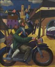 Sale 9084 - Lot 581 - Jacek Palucha (1966 - ) - Riding & Drinking All The Way Home, 2005 53.5 x 44 cm (frame: 67 x 58 x 3 cm)