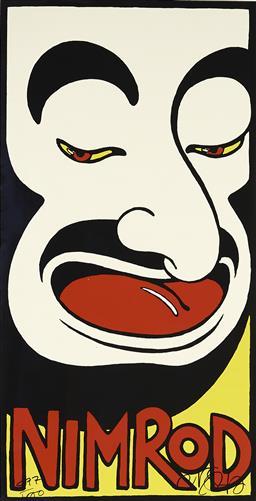 Sale 9096 - Lot 587 - Martin Sharp (1942 - 2013) Mo (Nimrod Series) screenprint, ed. 877/1000 90 x 45 cm (frame: 97 x 63 x 2 cm) signed lower right