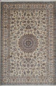 Sale 8321C - Lot 68 - Persian Nain Silk & Wool 306cm x 200cm RRP $8000