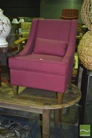 Sale 8352 - Lot 1075 - Pair of Maroon Toba Chairs
