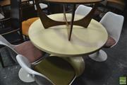 Sale 8364 - Lot 1074 - Robin Day Five-Piece Tulip Dining Suite