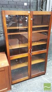 Sale 8395 - Lot 1083 - Glass Front Scientific Cabinet