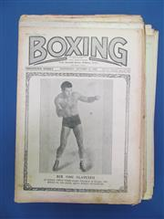 Sale 8419A - Lot 43 - Box On! - a box of good clean examples of Boxing (UK) 1916-1938