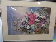 Sale 8582 - Lot 2050 - Petham, Still Life Flowers, Watercolour, SLR, 38.5x59.5