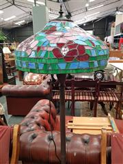 Sale 8745 - Lot 1017 - Leadlight Shade Standard Lamp