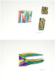 Sale 8991A - Lot 5007 - Lyndon Dadswell (1908-1986) (2 works) - Studies for Sculpture no.223 & no.224, 1977 27 x 37.5cm, each