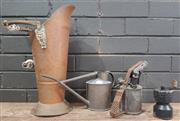 Sale 8959 - Lot 1021 - Collection of Vintage Items incl. Coffee Grinder, Torch, Watering Can & Coal Scuttle
