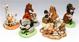 Sale 9173 - Lot 81 - A collection of Royal Doulton Thelwell ceramic figures (H:14cm)