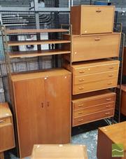 Sale 8409 - Lot 1084 - Teak Nine Piece Ladderax Bedroom System