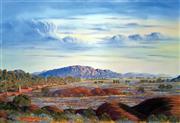 Sale 8507A - Lot 5028 - Jack Absalom (1927 - ) - Everard Ranges - Land of the Pitjantjatjara 43 x 60.5cm (sheet size)