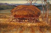 Sale 8674 - Lot 2002 - Terry Gleeson (1934 - 1976) - The Hay Rick, Flinders Ranges SA 19 x 29cm