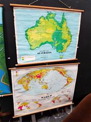 Sale 8684 - Lot 1007 - Chas H Scally Educational Maps x 2