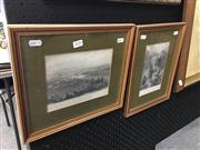 Sale 8674 - Lot 2030 - Pair of Engravings by J.C. Armytage and John Skinner Prout: Melbourne from St. Kilda Road; Willoughby Falls, Near Sydney (framed)...