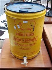 Sale 8688 - Lot 1014 - Golden Fleece Oil Drum