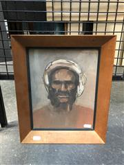 Sale 8811 - Lot 2036 - Artist Unknown - Portrait of a Man, watercolour, 34 x 28cm (frame), signed upper right