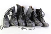 Sale 8952M - Lot 694 - Three Pairs Of Black Military Boots (Various Sizes)