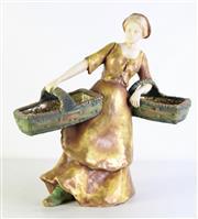 Sale 8994 - Lot 43 - Amphora Figure Of A Lady Carrying Baskets H: 44cm