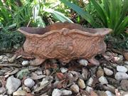 Sale 9015G - Lot 74 - A Cast Iron Planter In Copper Color, General wear, Surface Rust, Size: 47cm L x 19cm H