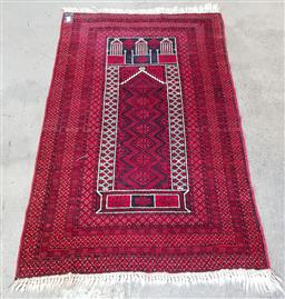 Sale 9157 - Lot 1079 - Afghan Baluchi prayer rug (100 x 150cm)
