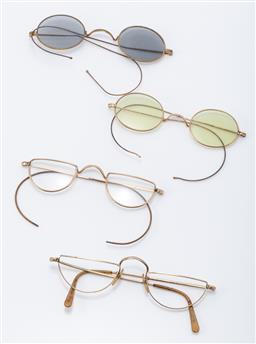 Sale 9190E - Lot 41 - A group of four vintage spectacle glasses, one missing lenses