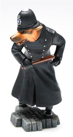 Sale 9246 - Lot 71 - A boxed Robert Harrop Doggie People DP162 German shepherd policeman figure (H:18cm)