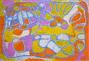 Sale 8288A - Lot 34 - Kuntjil Cooper (c1920 - 2010) - Two Sisters Dreaming (Minyma Kutjara), 2008 105 x 125cm