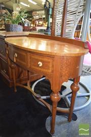 Sale 8390 - Lot 1320 - Three Drawer Mirrored Back Dresser - Mirror Broken