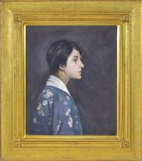 Sale 8392H - Lot 94 - Elsie A. Lloyd - The Grey Kimono 61 x 51cm