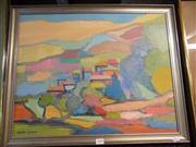 Sale 8437 - Lot 2040 - Patsy Purvis (XX) - The Little Town 45 x 57cm