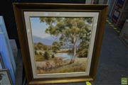 Sale 8582 - Lot 2061 - C. de Stoop, Murrumbidgee River, Oil, SLR, 57.5x49.5cm