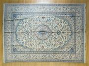 Sale 8372C - Lot 9 - A Super Fine Persian Nain Silk Inlaid, 385 x 283cm