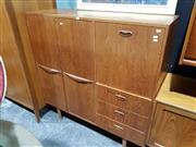 Sale 8765 - Lot 1057 - Teak High Back Sideboard