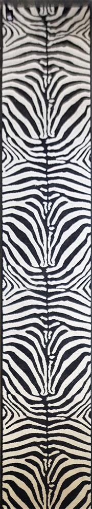 Sale 8745 - Lot 1075 - Modern Zebra Print Hall Runner (457 x 60cm)
