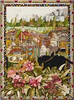 Sale 9096A - Lot 5079 - Christopher Vine (1967 - ) - Melbourne, Carnival City 68 x 50 cm (frame: 89 x 69 x 3 cm)