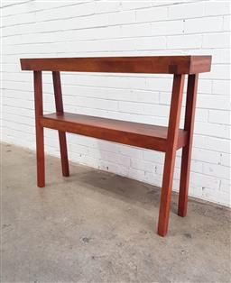 Sale 9108 - Lot 1045 - Timber 2 tier hall table (h:93 x w:172 d:26cm)
