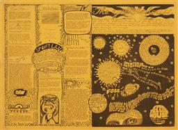 Sale 9157S - Lot 5023 - THE YELLOW HOUSE: THE GINGER MEGGS SCHOOL OF ART four page newsletter cover design by Greg White, edited by Albie Thomas 39 x 26.5 cm .