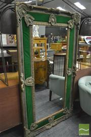 Sale 8386 - Lot 1089 - Large Gilt Framed Mirror with Fabric Surround