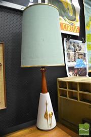 Sale 8409 - Lot 1008A - Teak and Ceramic Table Lamp