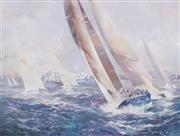 Sale 8519 - Lot 559 - Charles Billich (1934 - ) - Sydney to Hobart Yacht Race 136 x 181.5cm
