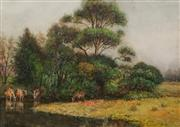 Sale 8642 - Lot 560 - Alfred James Daplyn (1844 - 1926) - Oronga Creek, Hawkesbury River 36 x 51cm