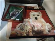 Sale 8663 - Lot 2080 - Alexander McNulty, (5 Works): Animals, original paintings by Artist, various frames/ sizes, unsigned
